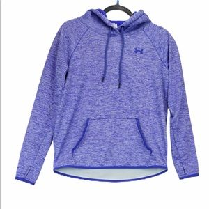 Under Armour small purple heathered logo hoodie